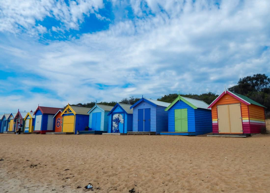 Brighton Beach Bathing Boxes on an easy day trip from Melbourne
