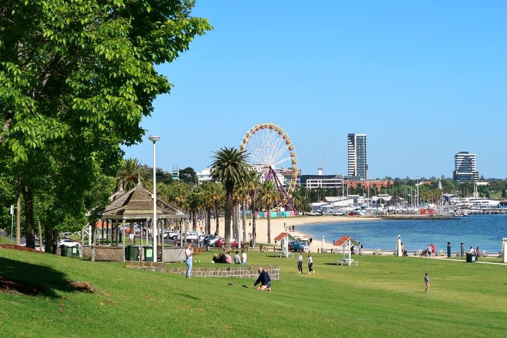 Geelong waterfront in Victoria, Australia