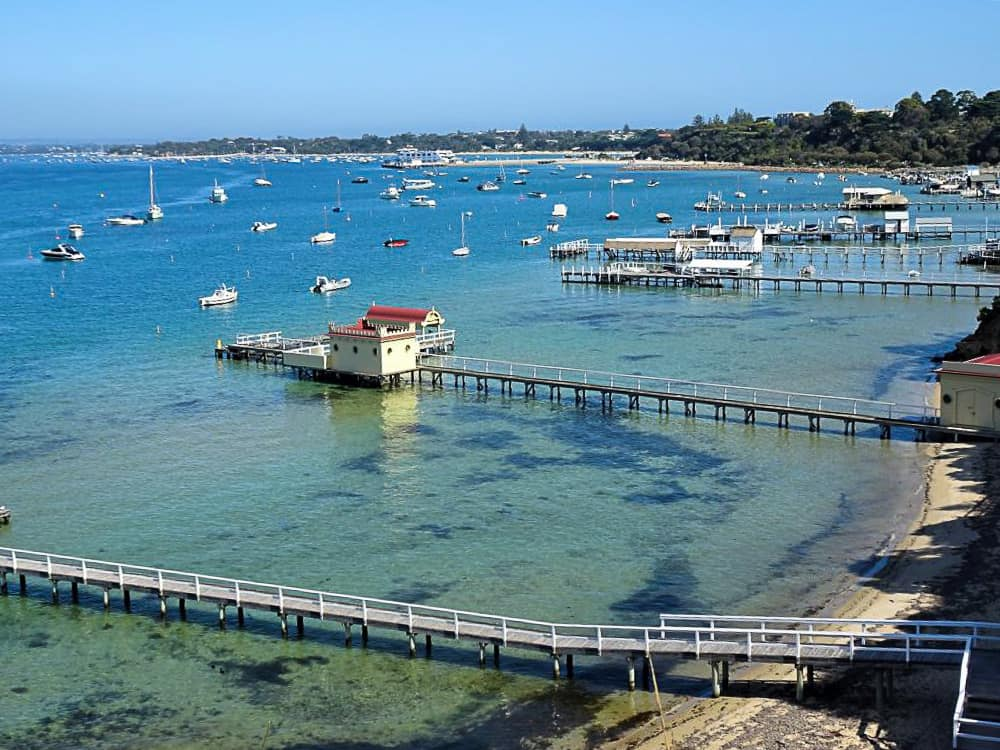 Millionaire's Walk in Sorrento on the Mornington Peninsula, a popular day tour from Melbourne