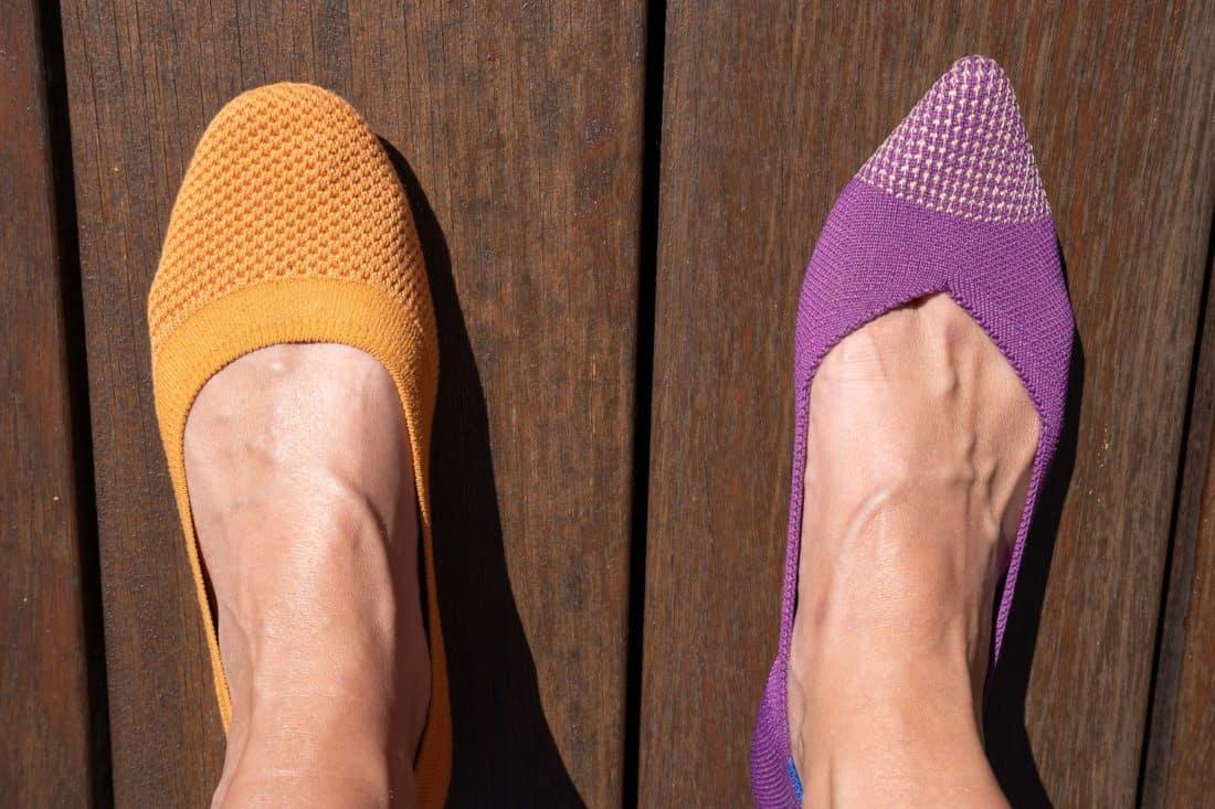 Allbirds flats vs Rothy's pointed toe flats