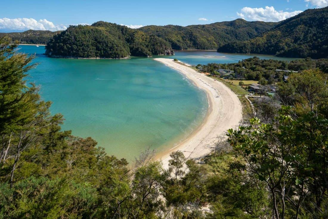 View from above of Torrent Bay in Abel Tasman National Park