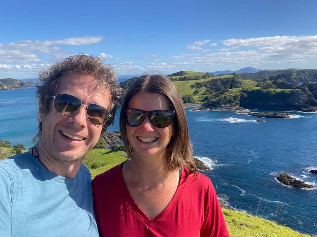 Simon and Erin on Urupukapuka Island