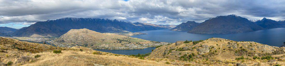 Queenstown Hill panoramic view from the summit
