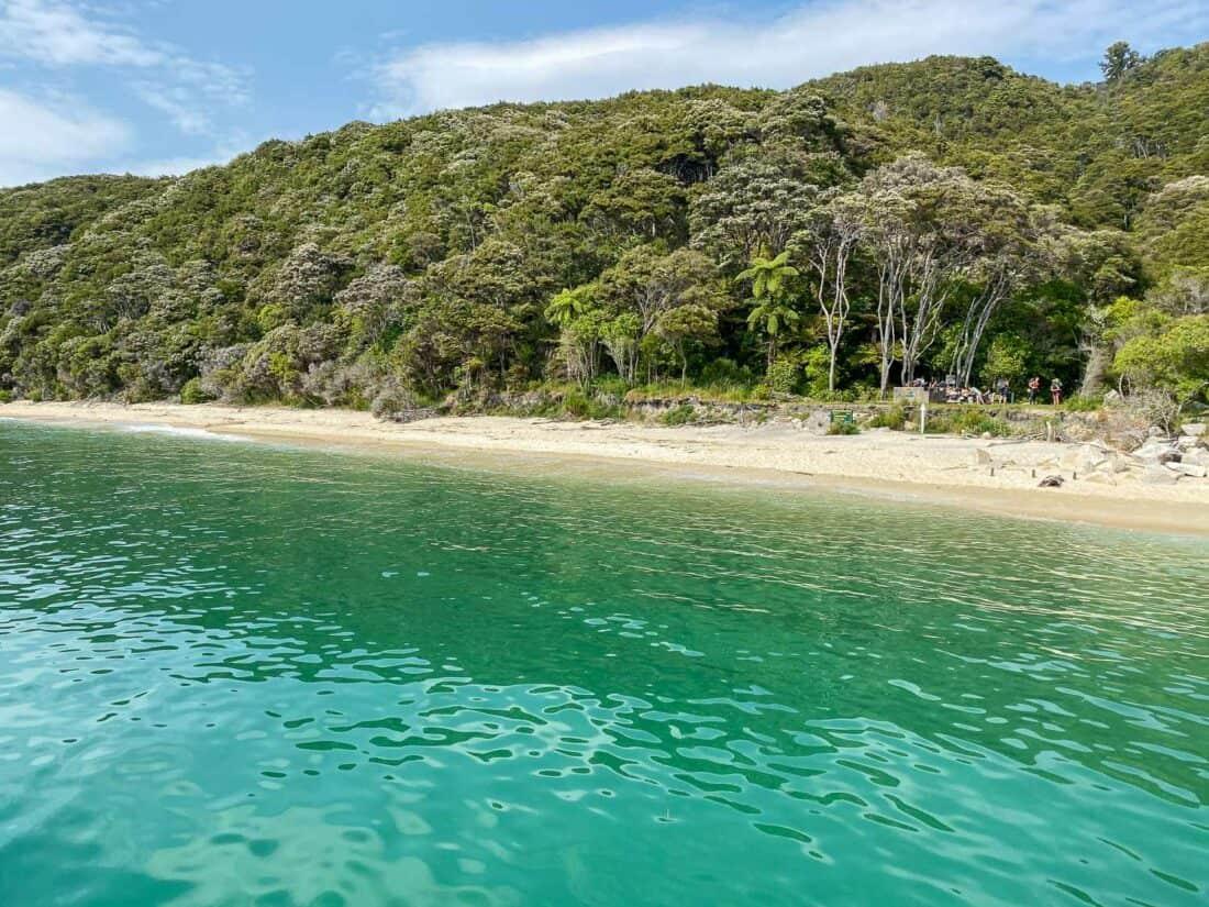Tonga Quarry beach on the Abel Tasman Track