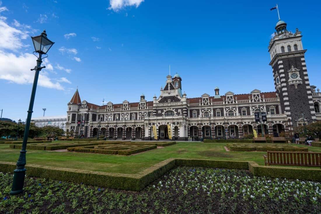 Dunedin Railway Station in New Zealand