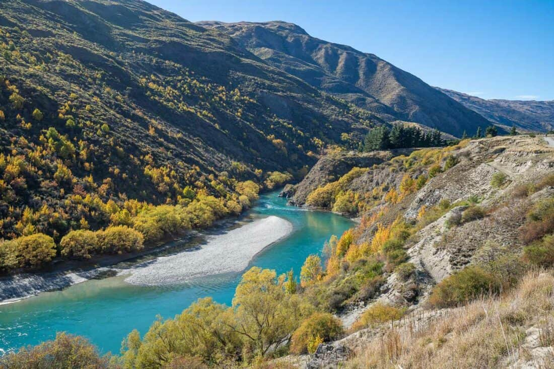 The Kawarau River in the Gibbston Valley in autumn