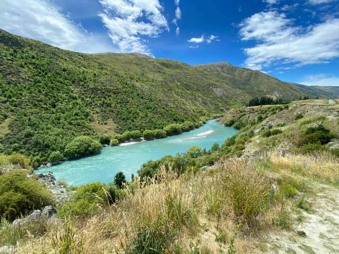 The Kawarau Gorge in the Gibbston Valley in summer