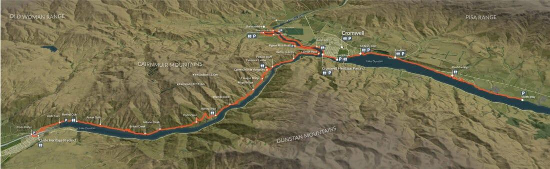 Lake Dunstan Cycle Trail Map