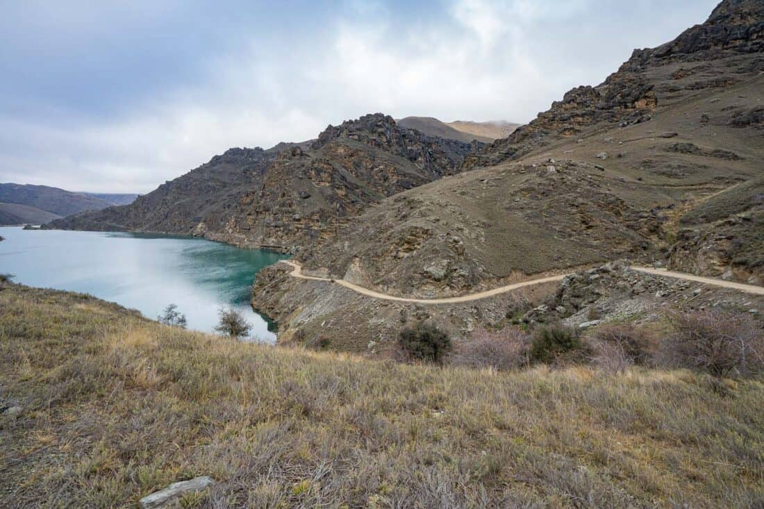 Cromwell Gorge section of the Lake Dunstan Cycle Trail
