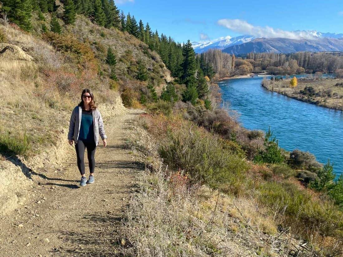 Hiking in my Allbirds Wool Runner Mizzles