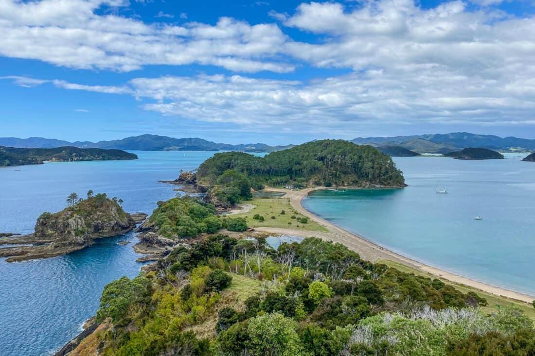Viewpoint on Motuarohia or Roberton Island in Bay of Islands, New Zealand
