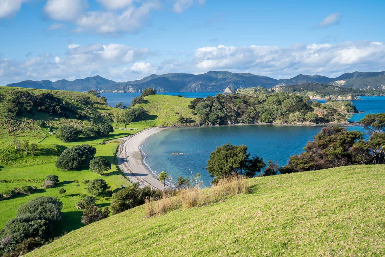 Urupukapuka Bay on Urupukapuka Island is one of the best things to do in Bay of Islands New Zealand