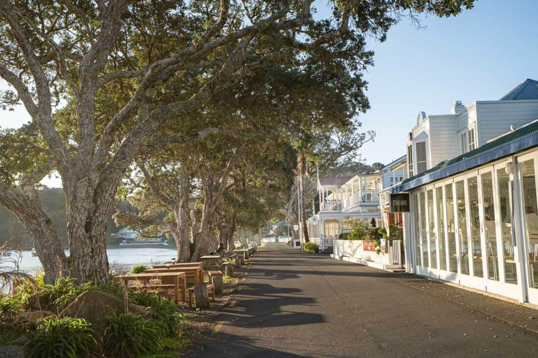 The Strand waterfront street in Russell, Bay of Islands NZ