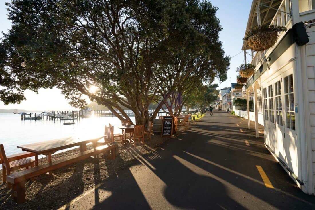 The Strand waterfront road in Russell, the best base for Bay of Islands, New Zealand