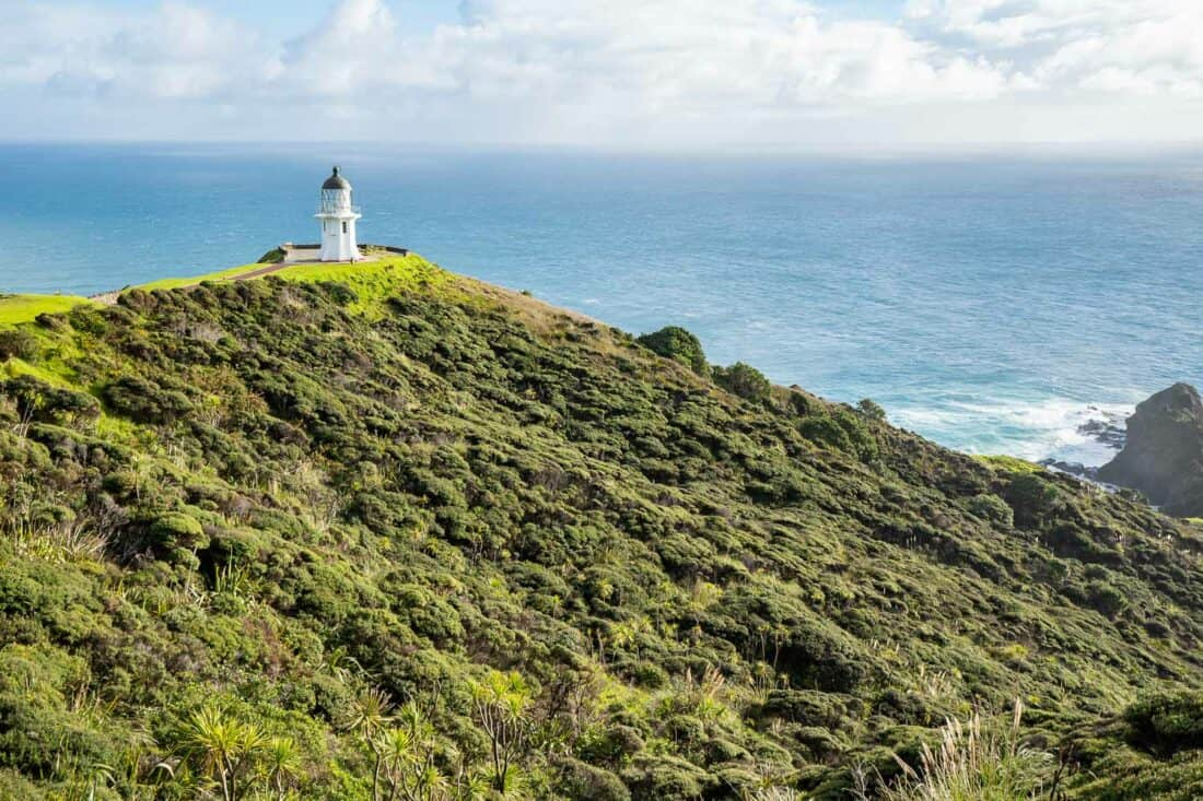 Cape Reinga lighthouse in the Far North of Northland New Zealand