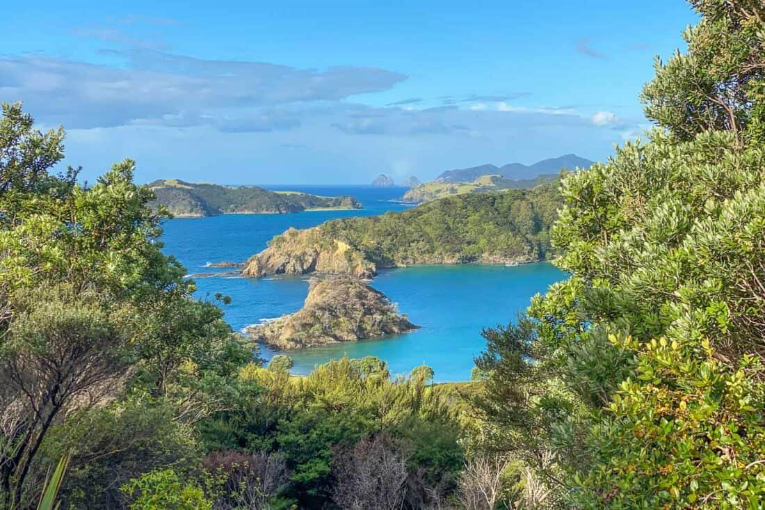 View from Moturua Island in Bay of Islands Northland
