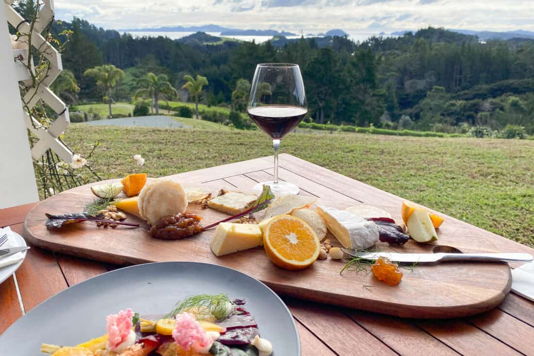Lunch at Sage at Paroa Bay Winery near Russell in Bay of Islands