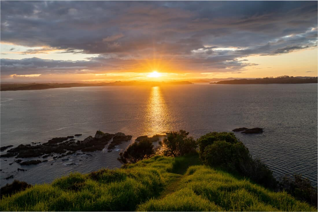 Tapeka Point Track at sunset in Bay of Islands