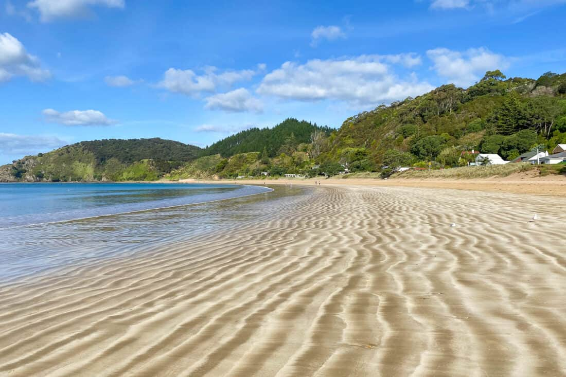 Long Beach in Russell, Bay of Islands New Zealand
