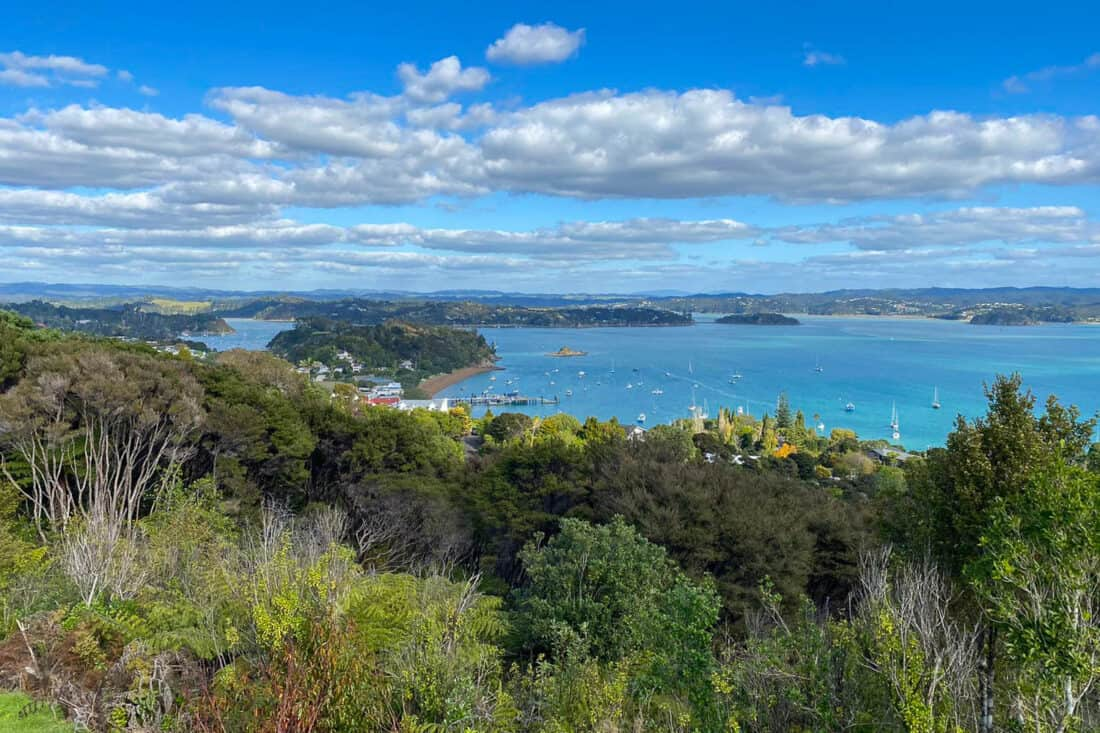 View from Flagstaff Hill in Russell, Bay of Islands