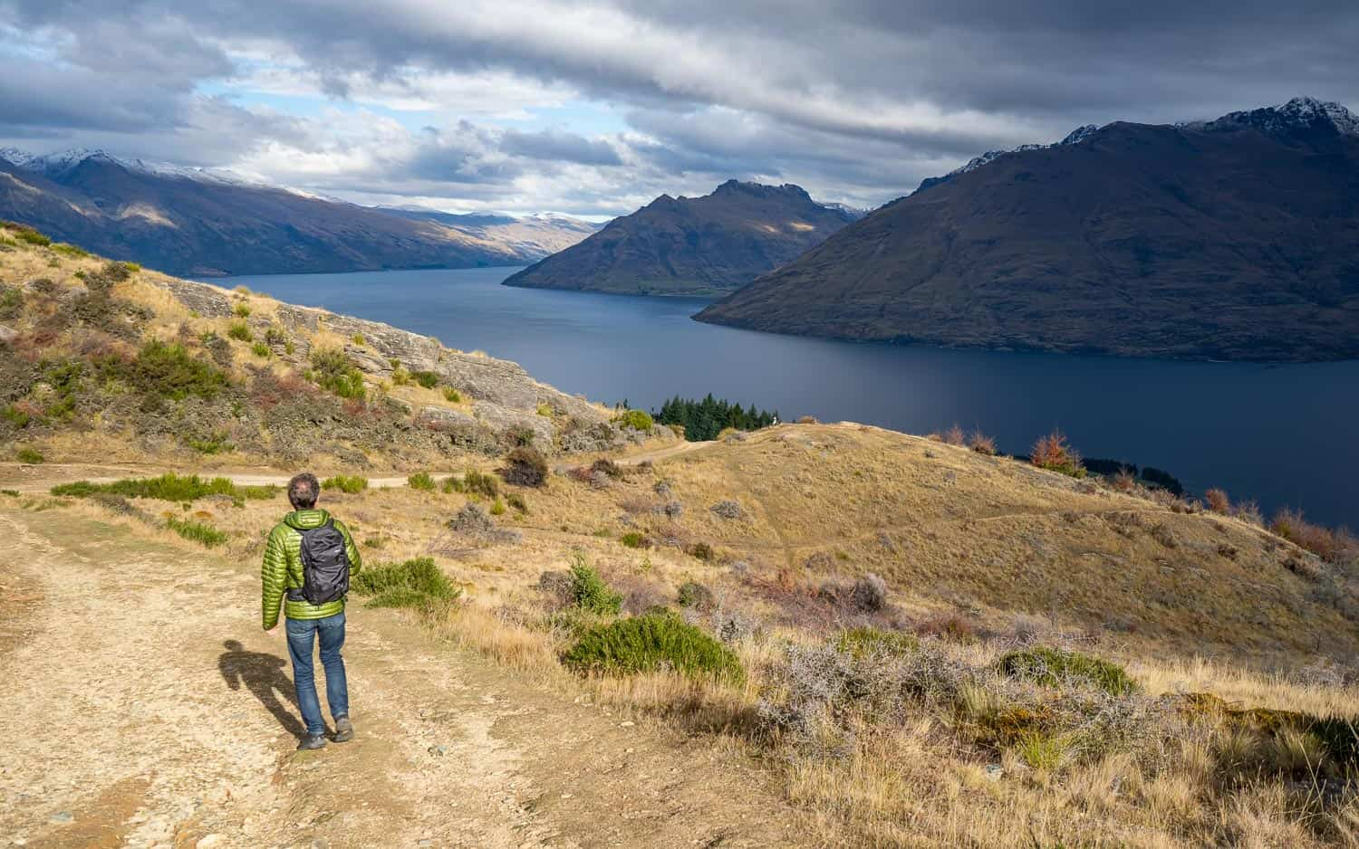 Hiking Queenstown Hill with the Matador Beast18, one of the best packable daypacks