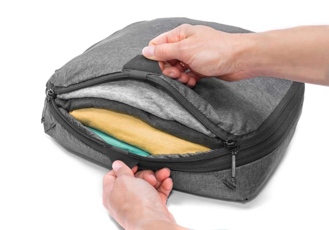 Peak Design packing cubes tear-away zipper