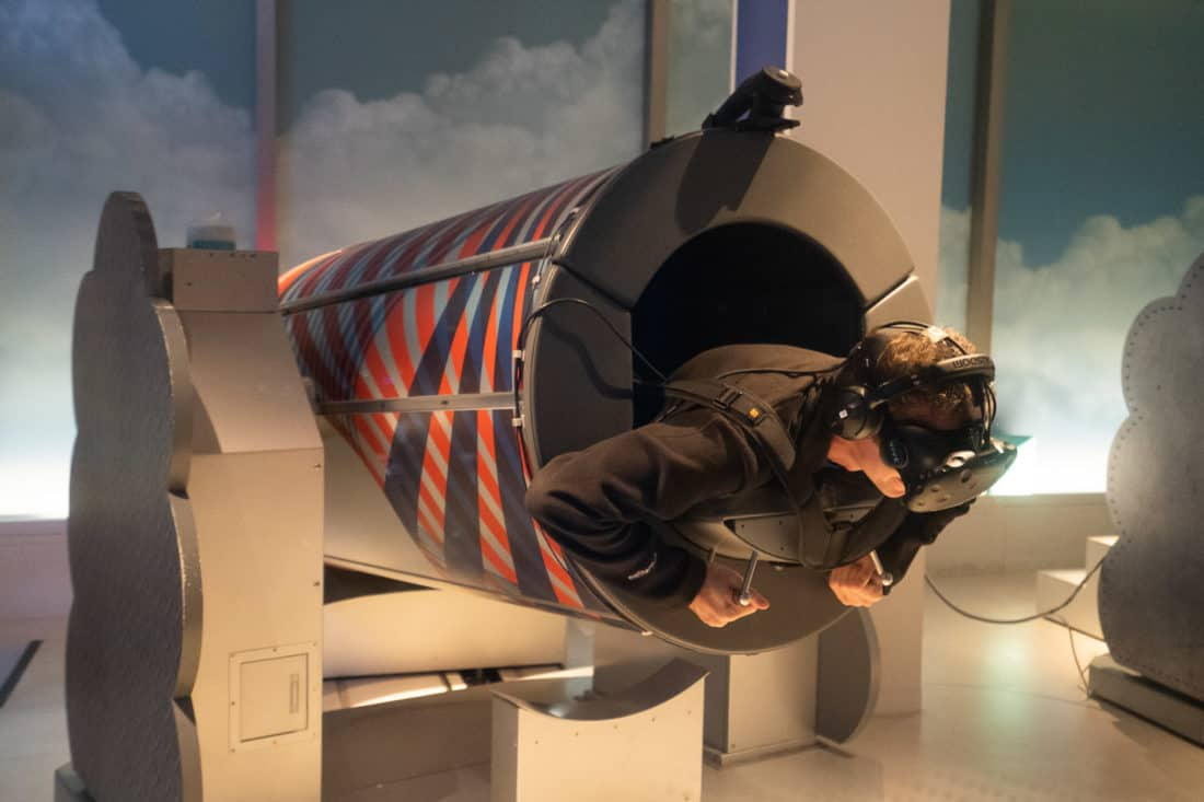Tokyo Bullet Flight VR ride at Sky Circus Sunshine 60 Observatory in Tokyo Japan