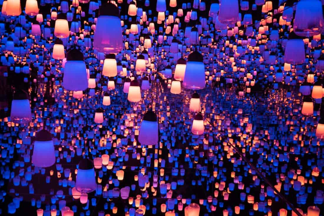 Forest of Lamps at TeamLab Borderless, one of the best things to do in Tokyo, Japan