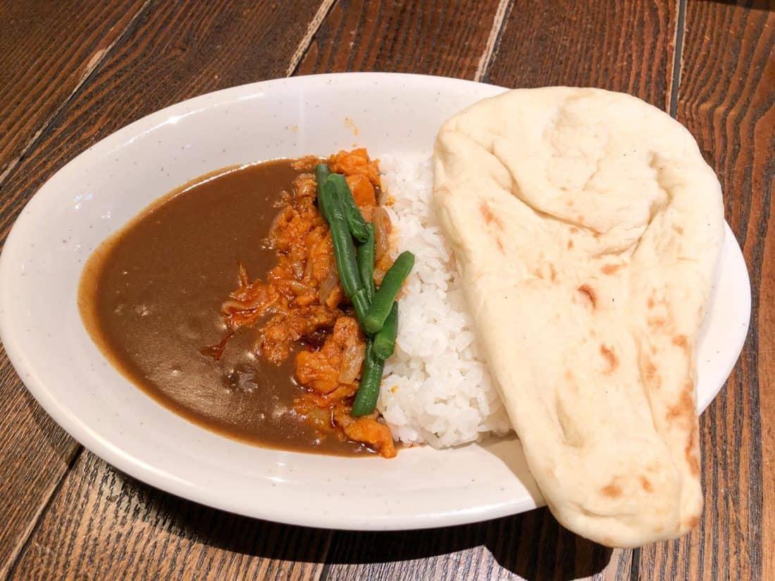 Japanese vegetarian curry at Casbah Food Court at Tokyo DisneySea