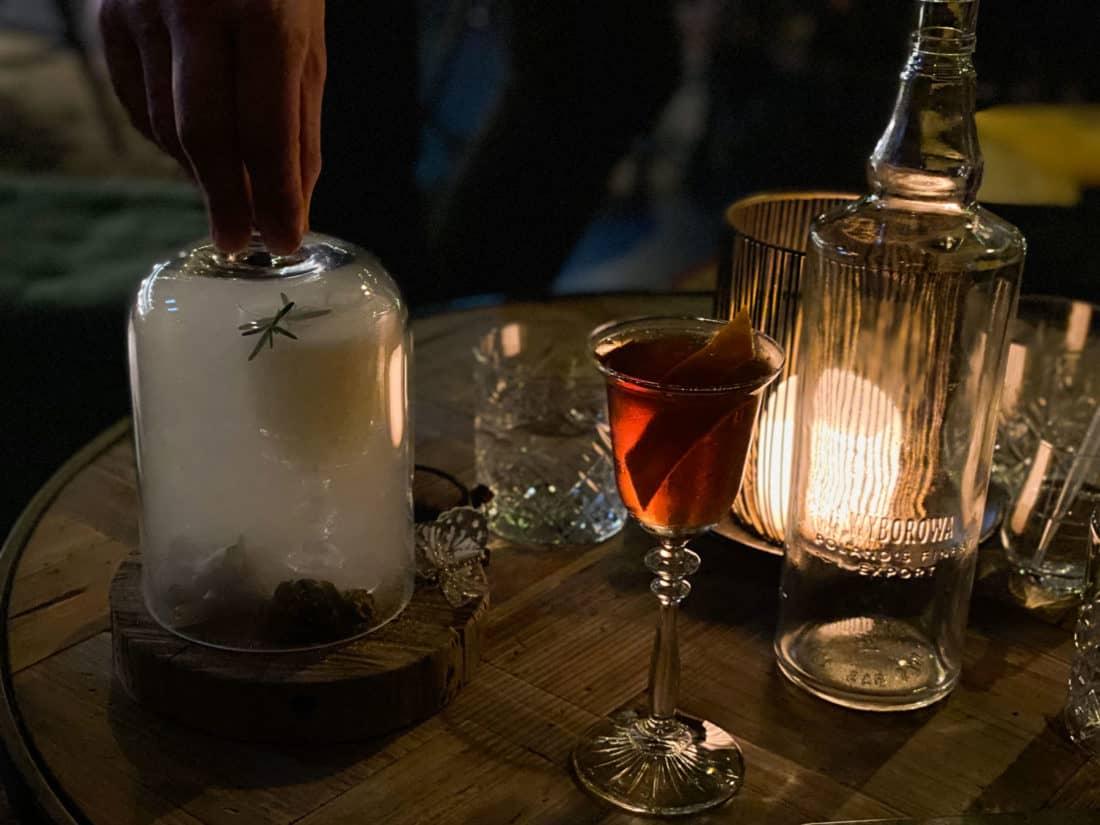 The Secret Garden cocktail at Kismet bar in Nelson NZ
