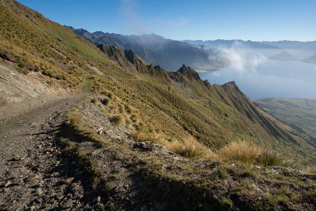 The view on the way up the Isthmus Peak Track overlooking Lake Hawea