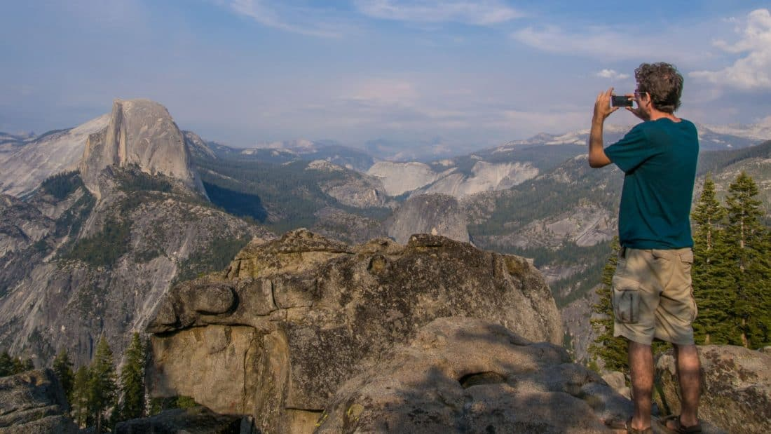 Simon at Washburn Point, the viewpoint just before Glacier Point, Yosemite National Park