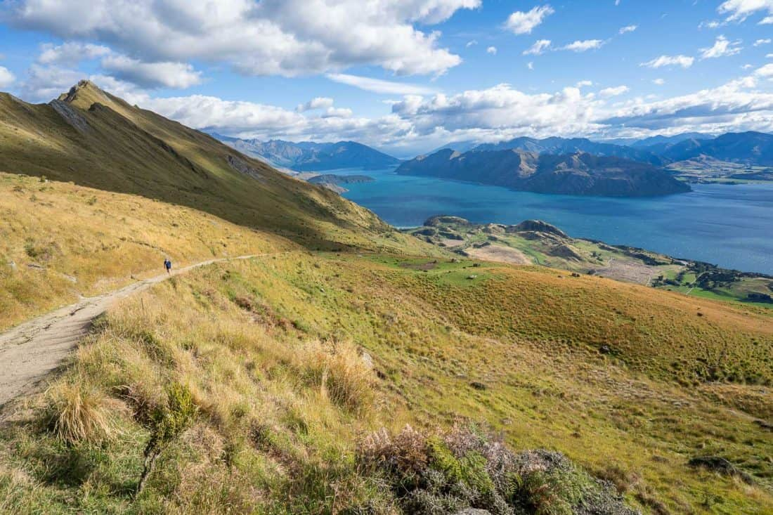 The view on the way up Roy's Peak Track with Lake Wanaka below
