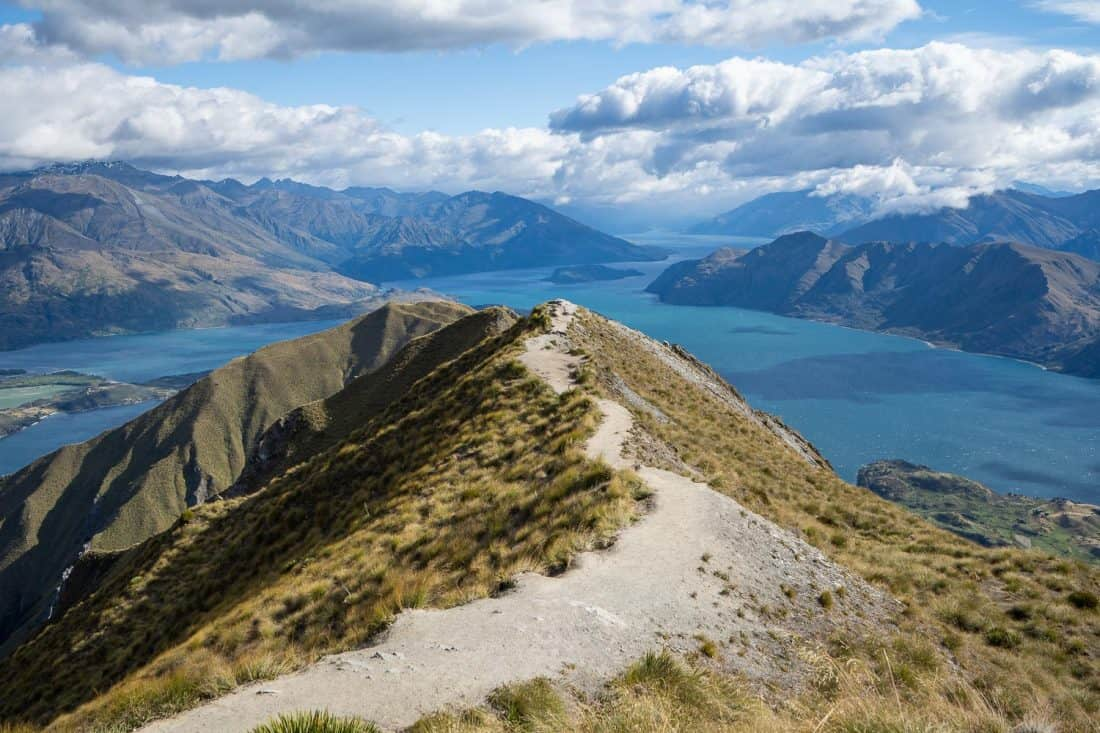 The famous Roy's Peak viewpoint in Wanaka