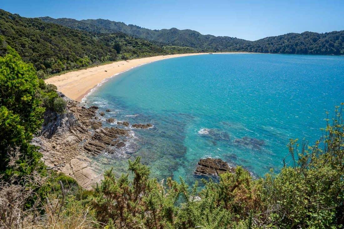 Totaranui Beach from Skinner Point south on the Abel Tasman Coast Track
