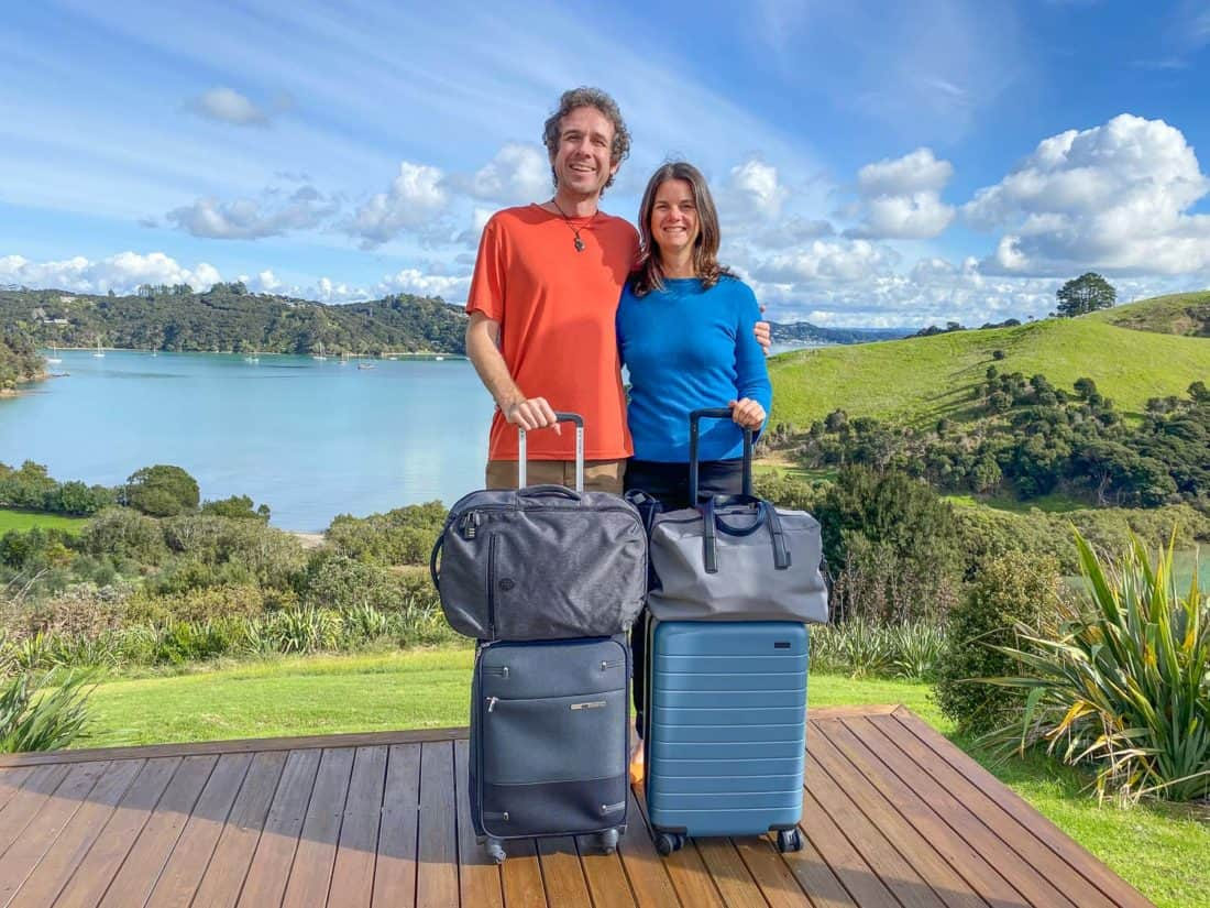 Erin and Simon share their carry on packing list after 10 years of travel