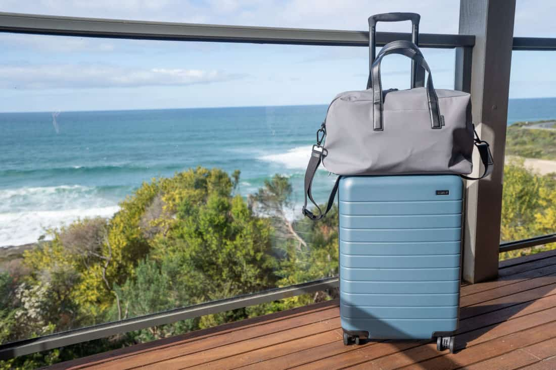 Away Bigger Carry On Suitcase and Everywhere Bag