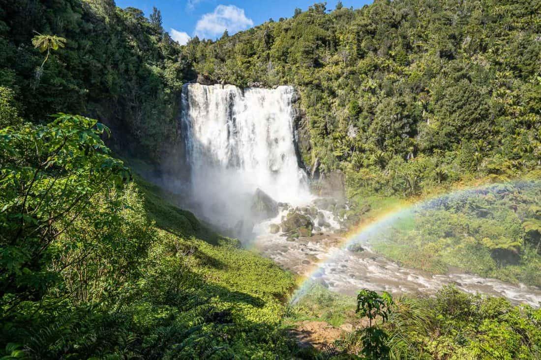 Marokopa Falls near Waitomo on the North Island New Zealand
