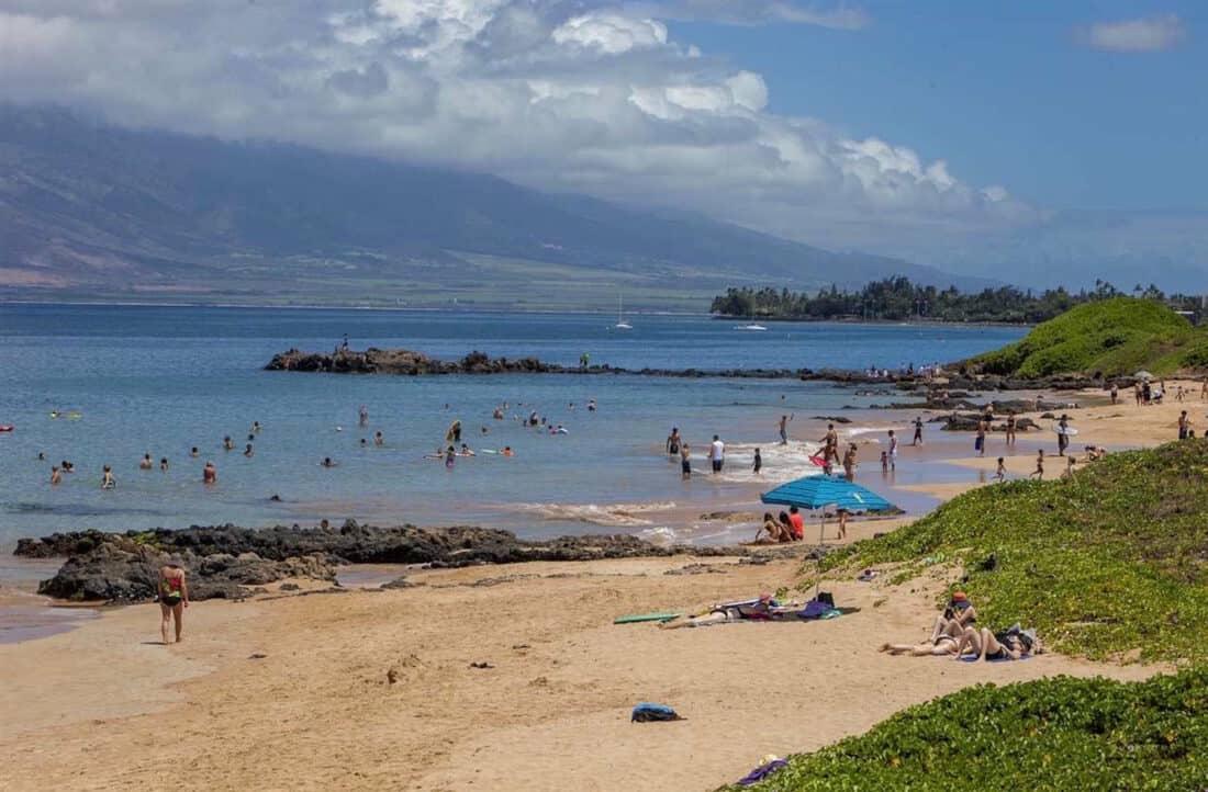 Beach hop along Kamaole Beaches on Maui, Hawaii