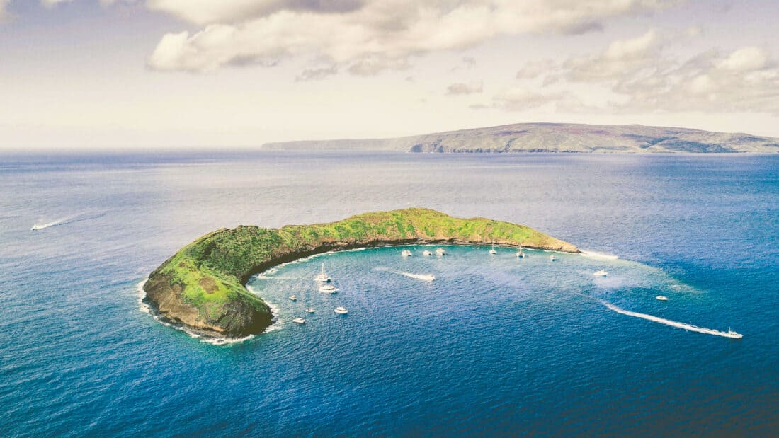 Snorkelling at the Molokini Crater in Maui, Hawaii is one of the best Maui activities
